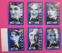 1998, PERSONNAGES CELEBRES, Y&T 313187/3192 NSC A 80% DE LA FACIALE (18092) - Unused Stamps
