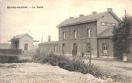 Beyne-Hensay Heusay - La Gare (animée, Feldpost 1914) - Beyne-Heusay