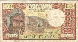 Billet 1000 Francs République De Djibouti - Série B.1 - Djibouti