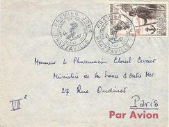 AEF Congo 1957 Brazzaville African Troops Tirailleurs Sénégalais General Faidherbe Handstamp FDC Cover - Brieven En Documenten