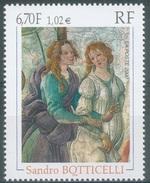 France, Sandro Botticelli, Italian Painter, Renaissance, 2000, MNH VF - France
