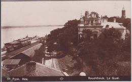AK - (Bulgarien) RUSSE - Roustchouk Le Quai - Mit Bahnhof  1920 - Bulgarien
