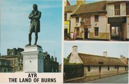 Bk - Cpsm Scotland - AYR - The Land Of Burns (Tam O'Shanter Museum, Burns Statue & Cottage) (format 9 X 14 Cm) - Ayrshire