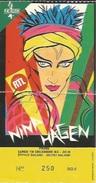 Ticket Concert Nina Hagen - Espace Balard 1983 - Concert Tickets