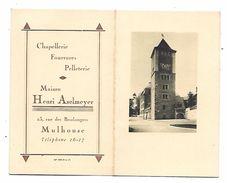 CALENDRIER 1931 Publicité Pour Maison HENRI ASELMEYER à MULHOUSE - Chapellerie,fourrures,pelleterie - Calendari