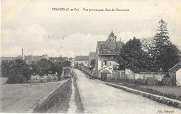 TRAPPES (78) Vue Rue De Chevreuse Cachet Militaire Garde Voie Communications Au Verso - Trappes