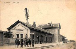 Hannut - La Gare (animée, Edit. Flamand-Godfrin, 1909) - Hannuit