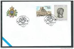 1998 SAN MARINO BUSTA SPECIALE TARANTO ANNULLO TARENTUM - R98 - FDC