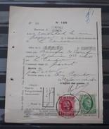 Nr 209 En Nr 254 Op Een  Protets  De Non Paiment D'effet  Bureau Comines / Komen . Zie Foto - 1922-1927 Houyoux