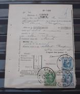 2 X Nr 207 En Nr 209 Op Een  Protets  De Non Paiment D'effet  Bureau Comines / Komen . Zie Foto - 1922-1927 Houyoux