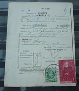 Nr 209 En Nr 303 Op Een  Protets  De Non Paiment D'effet  Bureau Comines / Komen . Zie Foto - 1922-1927 Houyoux