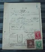 Nr 209 , Nr 256 En Nr 321 Op Een  Protets  De Non Paiment D'effet  Bureau Comines / Komen . Zie Foto - 1922-1927 Houyoux