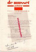 ETATS UNIS-RARE LETTRE DE MUSSET-PARFUMEUR-PARFUMERIE-PARFUM- 3 ESAT 38TH STREET NEW YORK CITY-CALEDONIA--1929-VINCENNES - USA