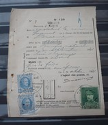 2 X  Nr 207 En Nr 323 Op Een  Protets  De Non Paiment D'effet  Bureau Comines / Komen . Zie Foto - 1922-1927 Houyoux