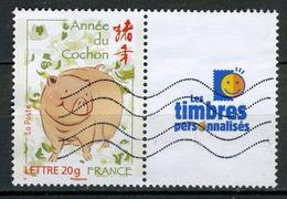 FRANCE 2007 / YT 4001A  ANNEE CHINOISE COCHON  OBL. - Personnalisés