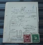 Nr 317en Nr 323 Op Een  Protets  De Non Paiment D'effet  Bureau Comines / Komen . Zie Foto - 1931-1934 Mütze (Képi)