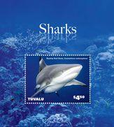 TUVALU 2014 - Faune Marine, Requins Du Pacifique - BF Neufs // Mnh - Tuvalu