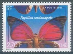 France, Butterfly, Claudina Agrias, 2000, MNH VF - Francia