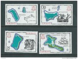 Kiribati 1981 Island Maps Series I Set 4 MNH - Kiribati (1979-...)
