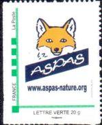 Timbre Personnalisé Phil@poste Cadre Vert - Logo Aspas (renard) - édition 2016 - Lettre Verte - France