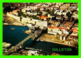 BERGEN, NORVÈGE - PARTI VED PUDDEFJORDSBROEN, FLYFOTO - THE BRIDGE PUDDEFJORDSBROEN - TRAVEL - - Norvège