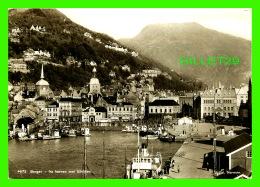 BERGEN, NORVÈGE - FRA HAVNEN MOT ULRIKKEN - ANIMATED  WITH SHIPS - TRAVEL  - - Norvège