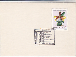 1970 POLAND Scientific FILM FESTIVAL EVENT COVER Card  Movie Cinema Orchid Stamps Flower Orchids Flowers - Cinema