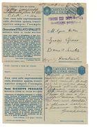 2019) INTERO POSTALE Franchigia Medaglie Oro PRESSATO SPALLETTI  UNO PIEGA - 1900-44 Vittorio Emanuele III
