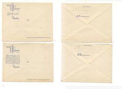 2021) INTERO POSTALE Franchigia WW2 2 BUSTE NUOVE MOTTI DOPOLAVO PNF - 1900-44 Vittorio Emanuele III