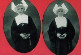 Photo FILLE De La CHARITE De SAINT-VINCENT De PAUL     Circa 1940 SOEURS Two Different Photos - Announcements