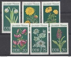 Allemagne DDR 1969  Mi.nr.: 1456-1461 Geschützte Heimische Pflanzen  Neuf Sans Charniere /MNH / Postfris - [6] Democratic Republic