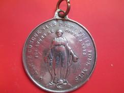 """Médaille Religieuse Ancienne/Ô Marie Conçue Sans Péché Priez Pour Nous/"""" Mérite""""/Médaille Scolaire/Argent/Mi-19éme CAN31 - Religión & Esoterismo"""