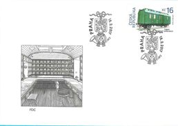 FDC 917 Czech Republic Railroad Mail Car 2017 Heraldic Lion - Trains