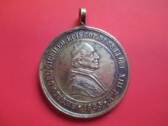 Médaille Religieuse Ancienne/Ricordo Del Giubileo  Episco. Di SS Leone XIII PM/San Lorenzo Martire/Bronze/1893  CAN32 - Religión & Esoterismo
