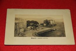Napoli Veduta Verso Il Castello Dell' Ovo Con Strada In Costruzione 1914 - Napoli (Napels)
