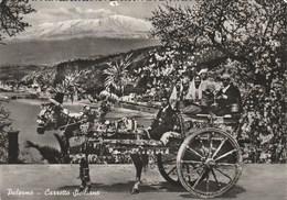 14656) PALERMO CARRETTO SICILIANO VIAGGIATA 1958 - Palermo