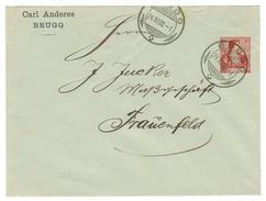Suisse // Schweiz // Switzerland //  Entiers Postaux  // Entier Postal Au Départ De Brugg  Pour Frauenfeld - Enteros Postales