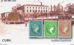TARJETA TELEFONICA DE CUBA (PRIMERA EMISION POSTAL DE LAS ANTILLAS ESPAÑOLAS) (334) - Cuba