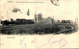 LOBBES - Le Rapide Paris-Berlin, Passant à 90 Ks à L'heure - Lobbes