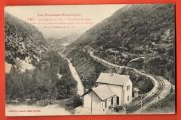 MIS-14  Thuès-Entre-Valls Thuès-Village, Ligne De Chemin De Fer De Mont-Louis. Cachet 1925 - Frankreich