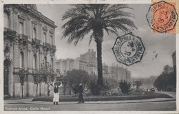 """Sur Carte Buenos Aires (Argentine) Oblitération Paquebot Cachet """"Buenos Ayres à Bordeaux"""" 1 LJ N°5 écrite 1920 - Argentine"""