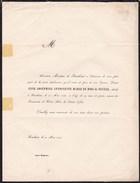 BOUCHOUT Anne-Joséphine Du BOIS De NEVELE 29 Ans 1848 Famille MORETUS - Décès