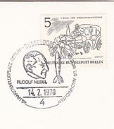 1970  RUDOLF NEBEL EVENT COVER  Dusseldorf GERMANY  Space Rocket Stamps - Europe