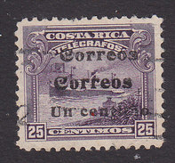 Costa Rica, Scott #88c, Used, Telegraph Stamp Surcharged, Issued 1911 - Costa Rica