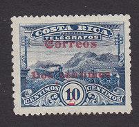 Costa Rica, Scott #94, Mint No Gum, Telegraph Stamp Surcharged, Issued 1911 - Costa Rica