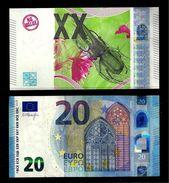 """Test Note """"BDF 20 (XX) Euro"""" Intaglio, UNC, Promotional Note, Euro Size, HYBRID - EURO"""