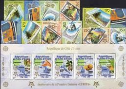 1956-2006 Cote Ivoire Block 175,Macedonia 370/3+3 ZD ** 119€ EUROPA-countries Bloc Ss Plant Sheet Se-tenant Bf CEPT - Europa-CEPT