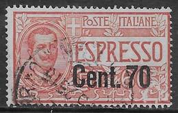 Italia Italy 1925 Regno Floreale Espresso Soprastampato C70 Sa N.E9 US - 1900-44 Vittorio Emanuele III