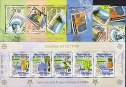 1956-2006 Cote Ivoire Block 174, Macedonia 370/3+Bl.13 ** 92€ EUROPA-countries Blocs Plant Sheets Se-tenant Bf CEPT - Europa-CEPT