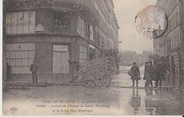 Crue De La Seine - 29 Janvier 1910 - Paris - Le Coin De L'Avenue De Latour Maubourg Et De La Rue Saint-Dominique - ELD - Inondations De 1910
